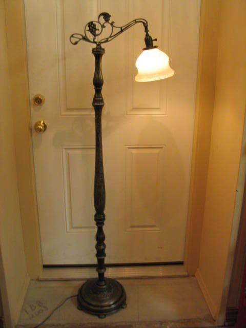 Bridge Arm Floor Lamp 1930''s Cast Iron/ Wood | Lighting | Lamp