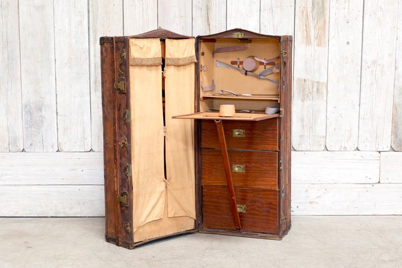 VINTAGE UPRIGHT WARDROBE TRUNK - BD Antiques