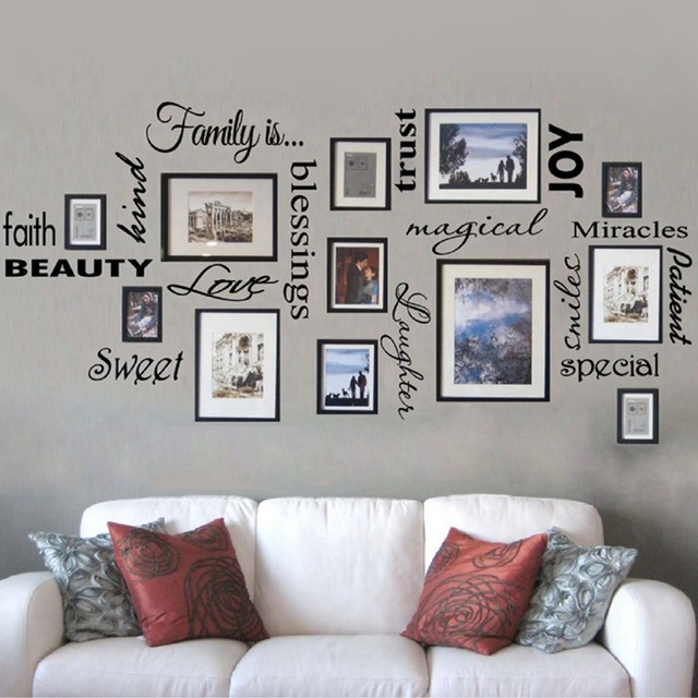Free Shipping FAMILY IS vinyl wall lettering quote wall art / decor