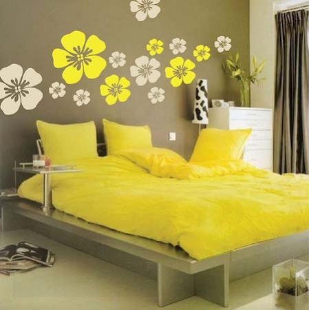 Flower Wall Art Design _ Floral Wall Decals _ Trendy Wall Designs
