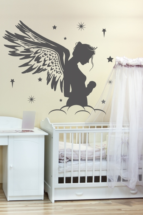 Nursery Wall Decals-Mother Fairy- WALLTAT.com Art Without Boundaries