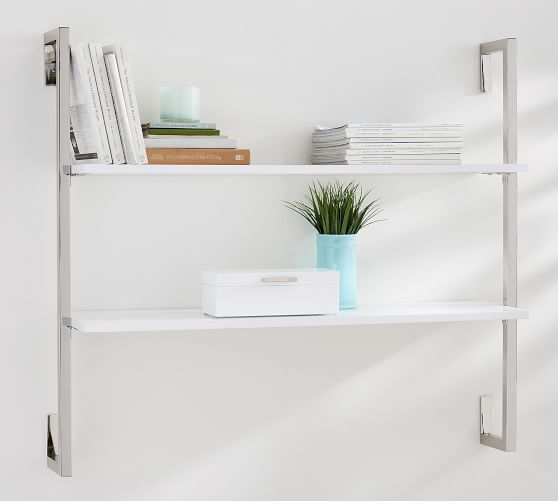 Olivia Wall Mounted Shelves - 2 Tier | Pottery Barn
