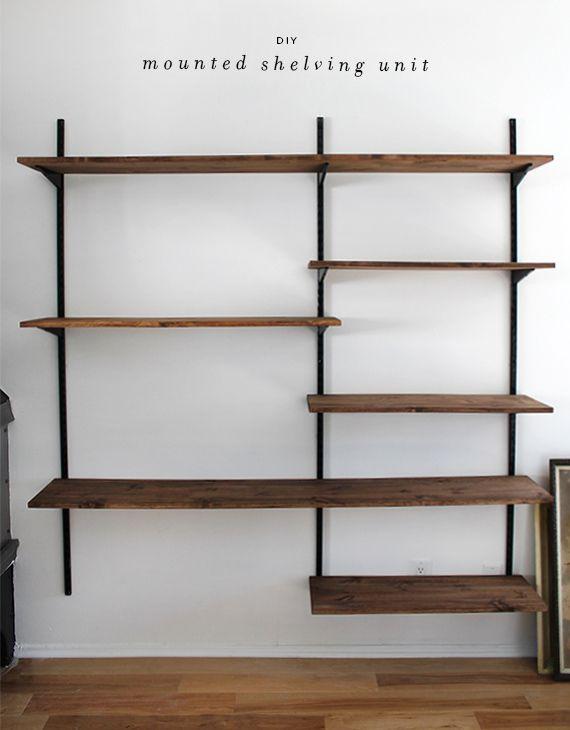diy mounted shelving   Home Inspiration   Pinterest   Shelves, Diy