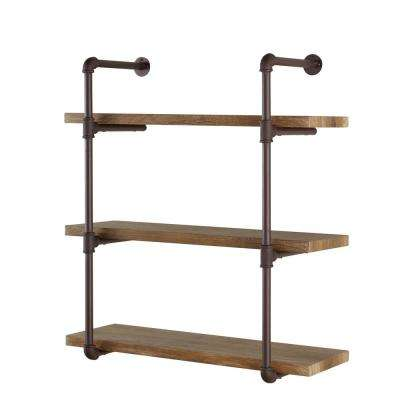Industrial - Wall Mounted Shelves - Shelving - The Home Depot
