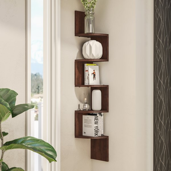 Wade Logan Ridgeway Corner Wall Shelf & Reviews | Wayfair