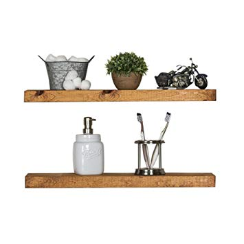 Amazon.com: Del Hutson Designs-Rustic Pine Floating Shelves (Walnut