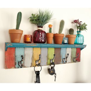 Entry Wall Shelf With Hooks | Wayfair
