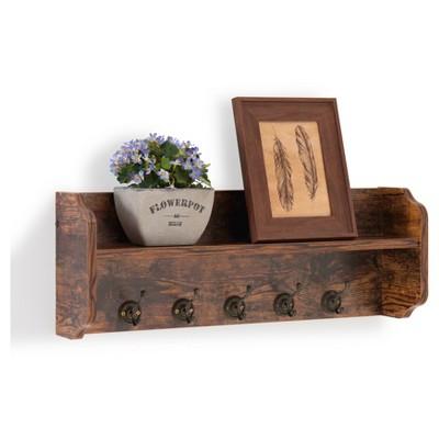 Utility Wall Shelf With Hooks - Aged Wood - Danya B. : Target