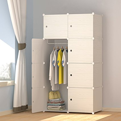 Amazon.com: JOISCOPE MEGAFUTURE Wood Pattern Portable Wardrobe