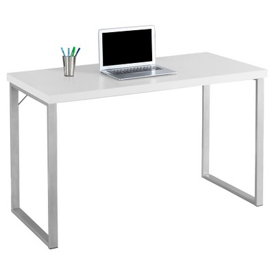 Contemporary Silver Metal Computer Desk - White -EveryRoom : Target