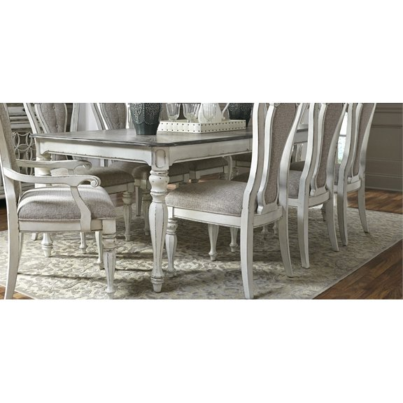 Antique White Dining Table - Magnolia Manor | RC Willey Furniture Store