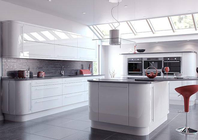 High Gloss White Kitchen Doors from £2.99