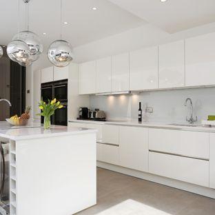 White High Gloss Kitchen | Houzz