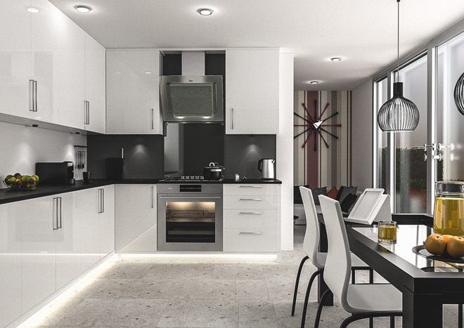 Ultragloss White Kitchen Doors | Made to Measure from £4.16