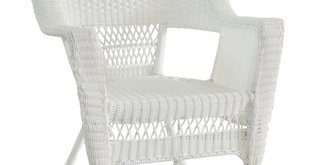Indoor White Wicker Chairs | Wayfair