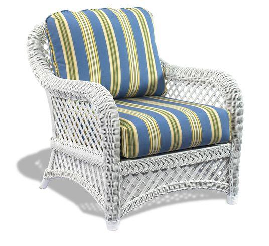 White Wicker Chair - Lanai | Wicker Paradise