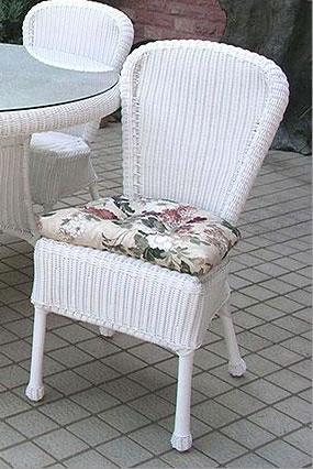 Darby Wicker Dining Chair NC280DC Jaetees Regarding White Chairs