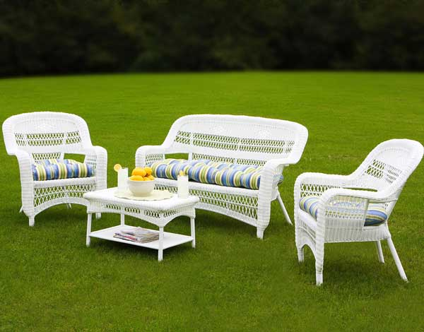 White Outdoor Wicker Furniture - 20 Sets to Choose From!