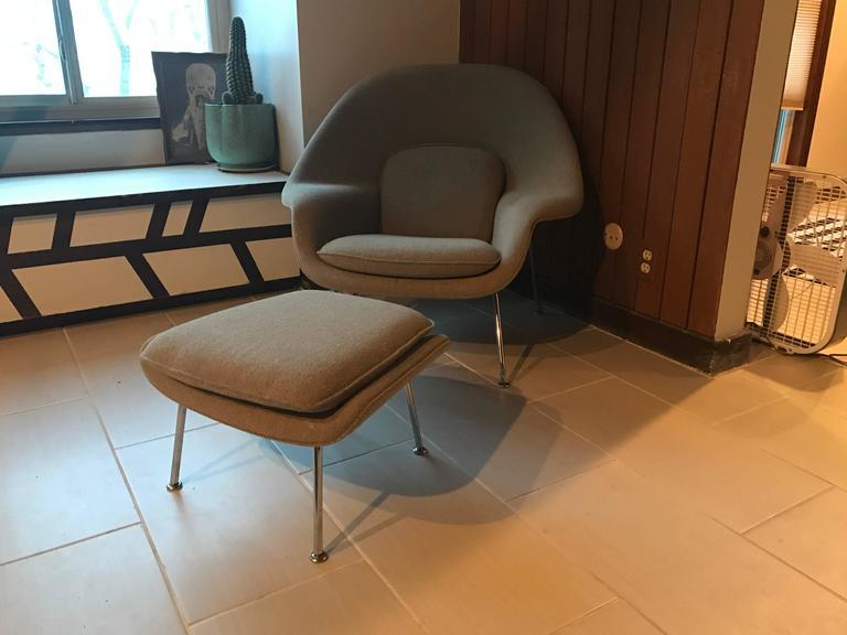 Eero Saarinen Child Size (Medium) Womb Chair and Ottoman for Knoll