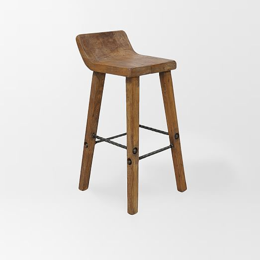 Hewn Wood Bar + Counter Stools | west elm