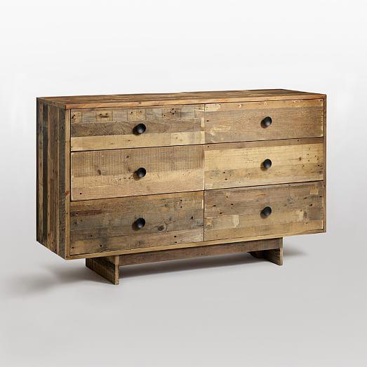 Emmerson® Reclaimed Wood 6-Drawer Dresser - Natural | west elm