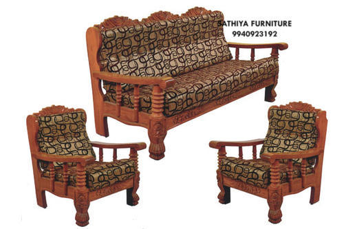 Brown Modern Wooden Sofa Set, Rs 22000 /set, Subashree Furniture