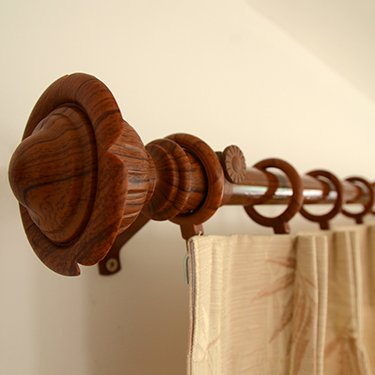 Wooden Curtain Poles for Adding Texture   to Your Windows