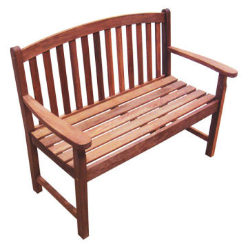 home garden wood furniture - wooden KD 2 seatr bench - non FSC