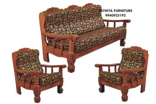 Brown Modern Wooden Sofa Set, Rs 22000 /set, Subashree Furniture