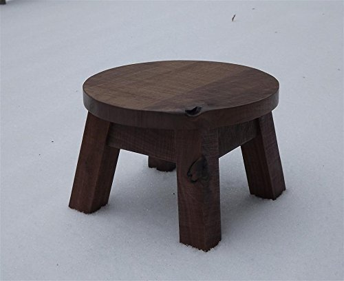 Amazon.com: Solid black walnut step stool, farmhouse foot stool