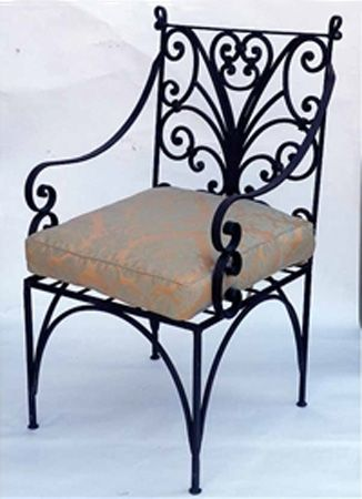 Wrought Iron Furniture, Chairs and Benches, Modern Interior