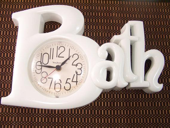 ... best small bathroom clocks with vintage s white bath clock home FWHZODH