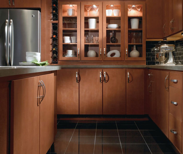... contemporary maple kitchen cabinets by homecrest cabinetry ... NNXLBMJ