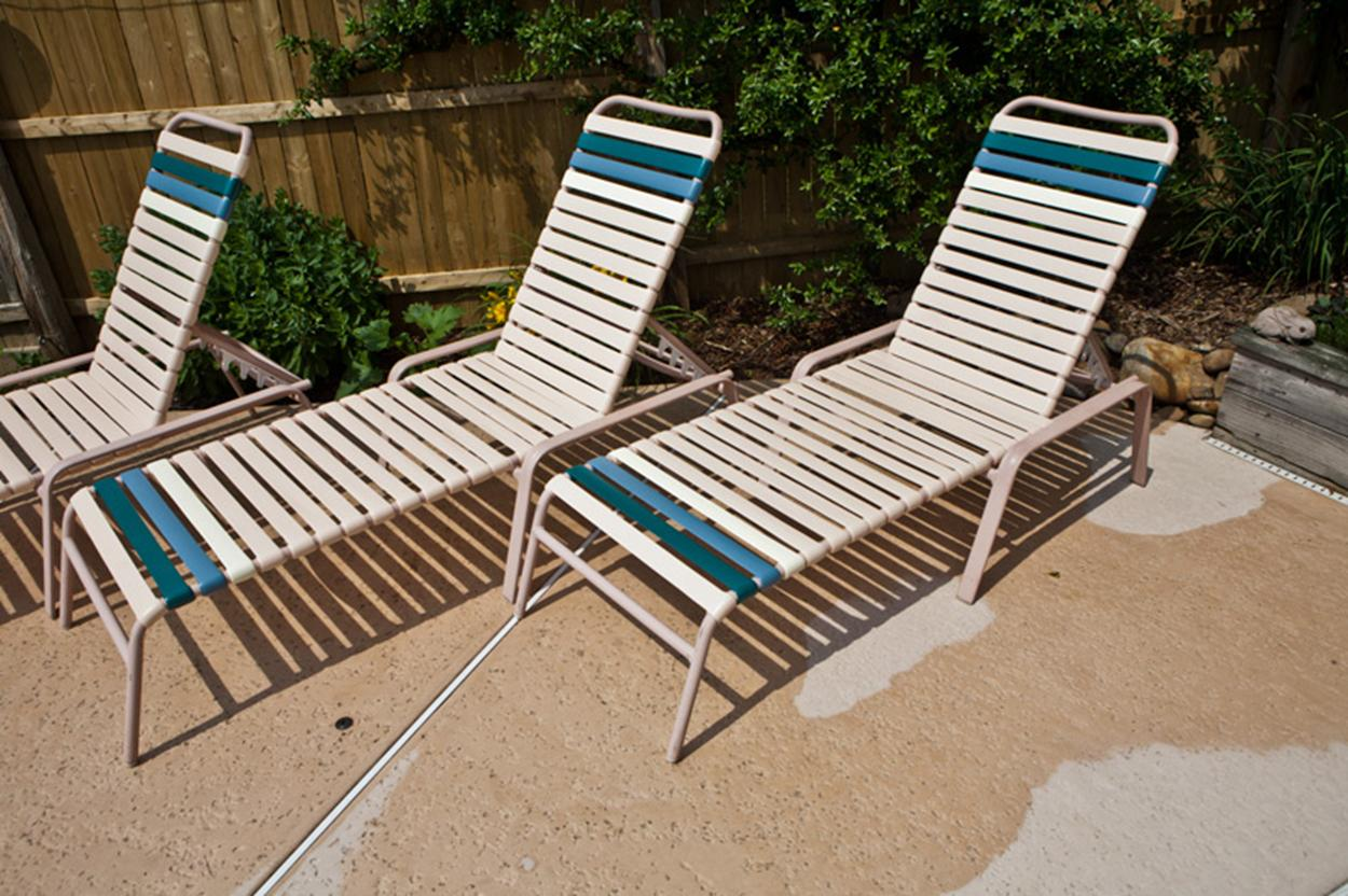 ... paul e from new jersey finished his pool furniture vinyl replacements TLADNVN