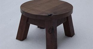 ... round wooden step stool ... EJINOWP