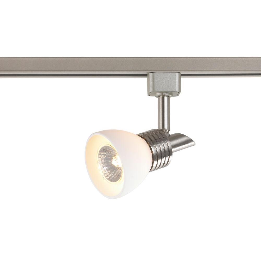 1-light white glass linear track lighting head KVDCOMH