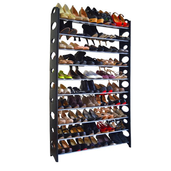 10-tier 50 pair shoe rack RNNUIAY