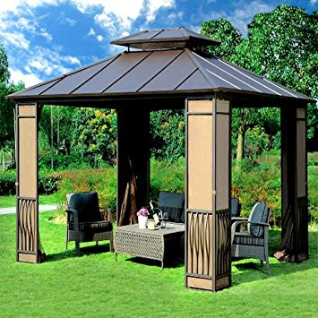 10 x 12 heavy duty galvanized steel hardtop wyndham patio gazebo NAFTLHB