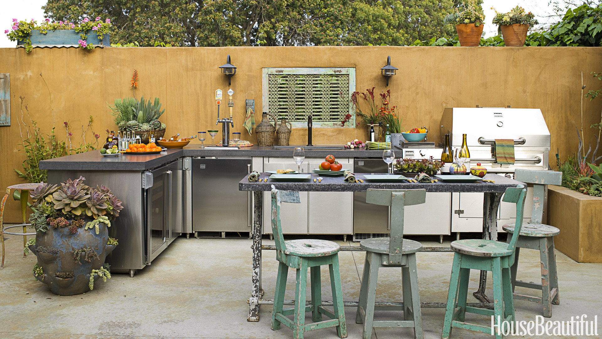 20 outdoor kitchen design ideas and pictures DJKYDFH