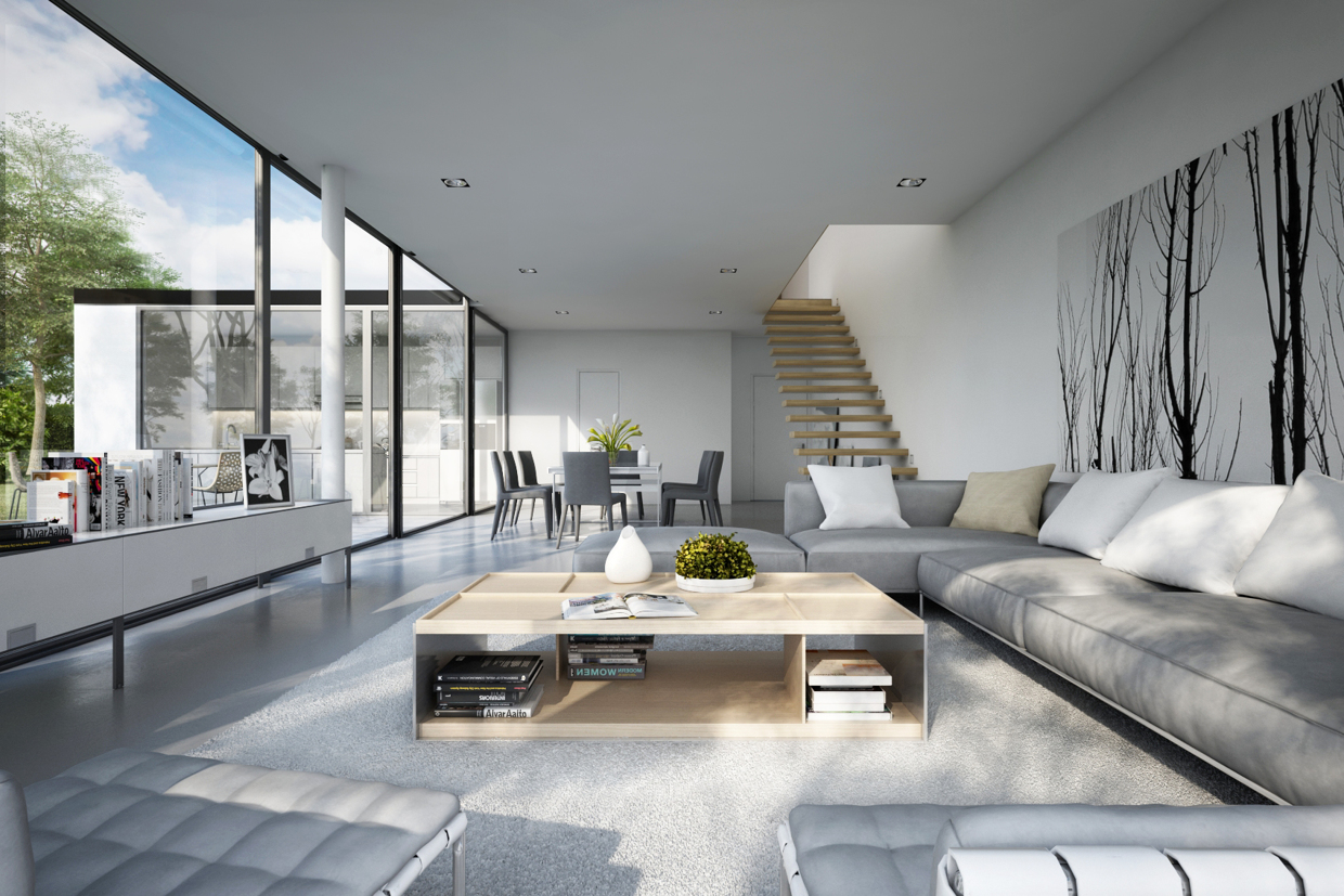 25 modern living rooms with cool, clean lines JUWXZSH
