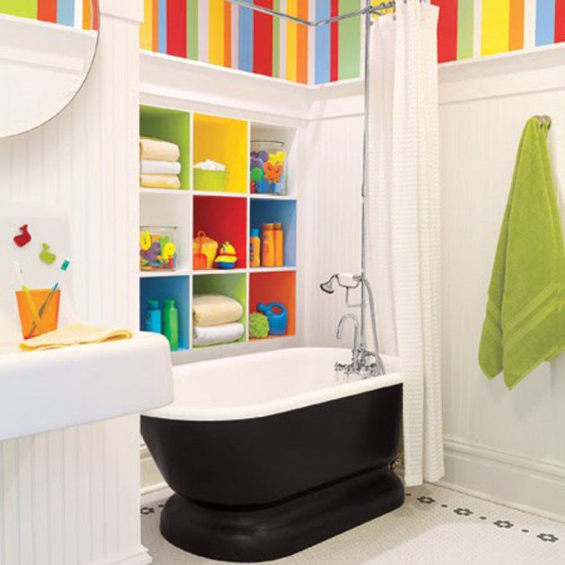 30 colorful and fun kids bathroom ideas HXJRKRM