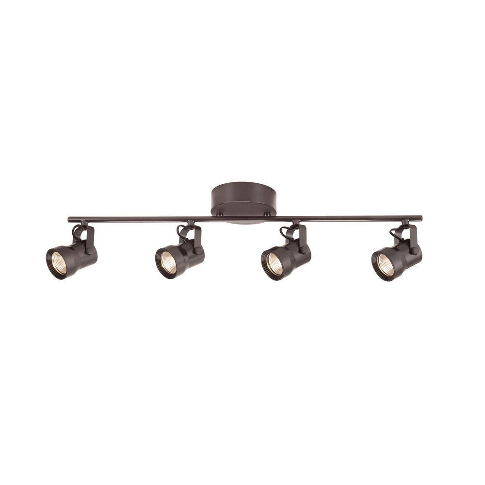 4-light bronze led dimmable fixed track lighting kit ... OJYBKJY