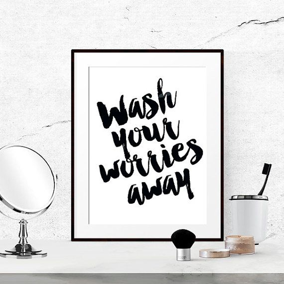40% off bathroom quotes black and white by luciaandluciana on etsy BSQZZPQ