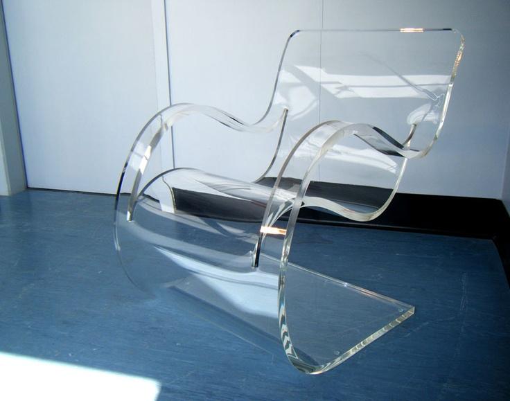 acrylic furniture bent acrylic chair | pinned by www.peregrineplastics.com KUDYFSR