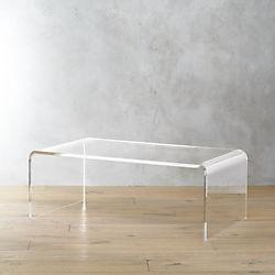 acrylic furniture peekaboo acrylic tall coffee table WZOQRYJ