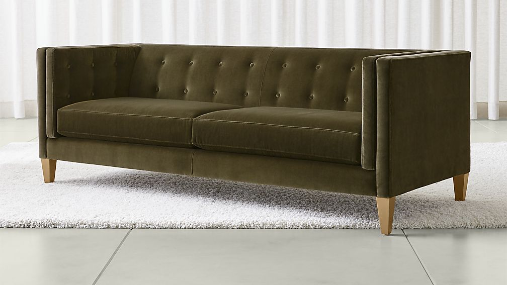 aidan velvet sofa ... BUINIZR