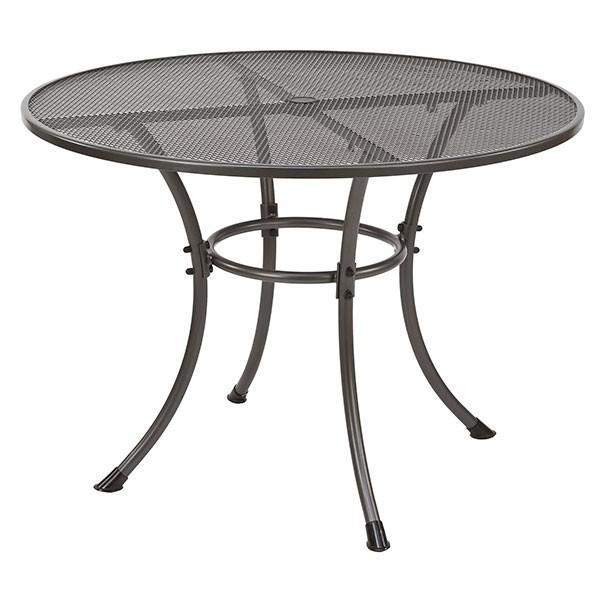 alexander rose portofino metal round garden table 1.05m BPRLHIN