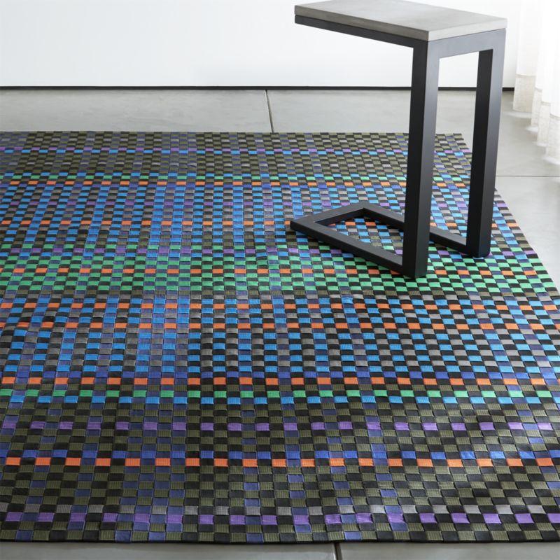 allta colorful outdoor rugs | crate and barrel JALXZEA