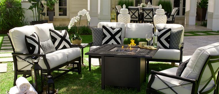 aluminum patio furniture andover cushion CTOQPXD
