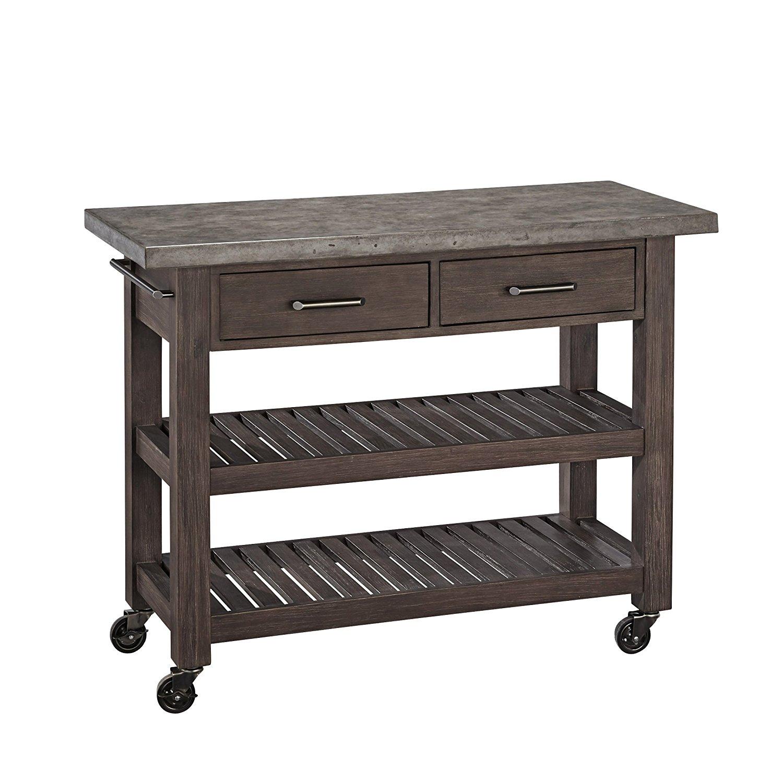 amazon.com - home styles concrete chic kitchen cart - kitchen islands u0026 UKCDHKR
